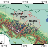 E2C2 Project - Map of historical landslides in the Emilia-Romagna Region, Italy