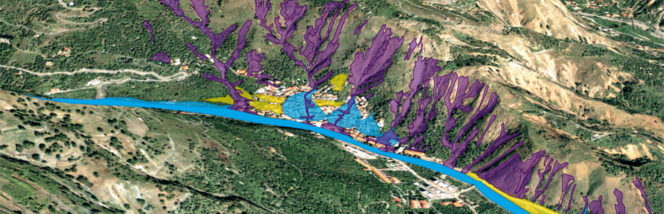 Landslide inventory map for the Giampilieri area, Sicily