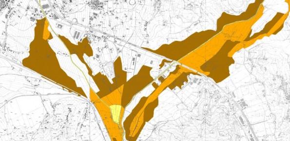 Esempio di perimetrazione delle fasce di pertinenza fluviale.