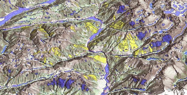 Where we should not expect landslides?