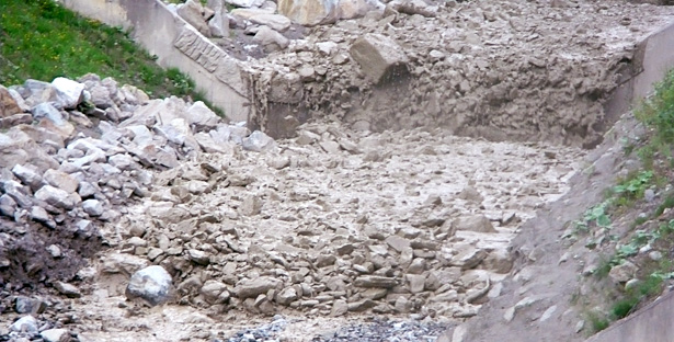 Debris flows in the Gadria Creek