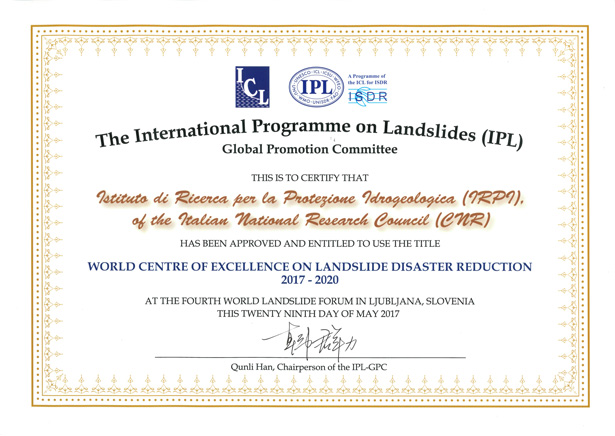 news-certificato-IPL-4th-world-landslide-forum-Ljubljana-2017